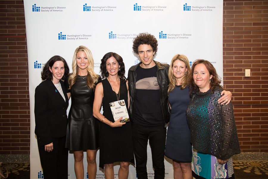 L - R: HDSA CEO Louise Vetter, Allie LaForce, Lisa Genova, Marc Scibilia, HDSA Trustee Jennifer Leyton and Anna Canoni at the 2015 Life in HD event in New York City. Photo by Nicole Mago.